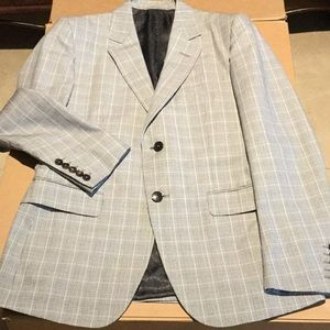 Gucci sport coat 48 gray black white